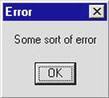 Error Message Example 2